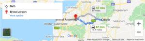 Bristolairport to Bath